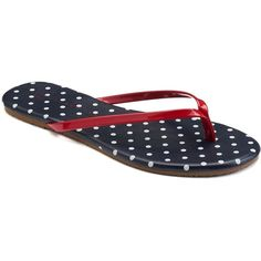 LC Lauren Conrad Women's Flip-Flops ($13) ❤ liked on Polyvore featuring shoes, sandals, flip flops, dot, rubber shoes, open toe flip flops, fleece-lined shoes, leopard print slip-on shoes and print shoes