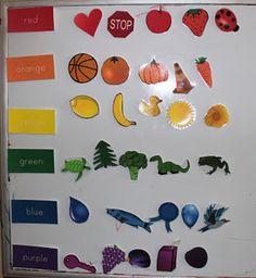 Sorting Colors Printable @ The Activity Mom. This could very well be used as a non-music activity too. (I pinned it in both places)