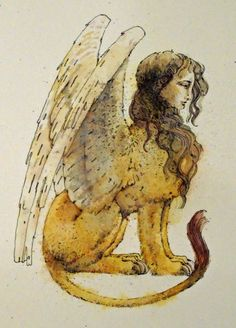 Amon tells Lily she has the heart of a sphinx. This is her heart ❤️ Magical Creatures, Fantasy Creatures, Sphinx Mythology, Sphinx Tattoo, Le Sphinx, Creature Feature, Mythological Creatures, Lion, Art Inspo