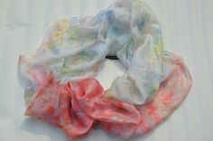 Ocean breeze (pure handmade silk scarf) by Anjali Sinha