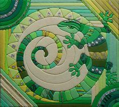Mosaic Diy, Mosaic Glass, Mosaic Tiles, Class Art Projects, Landscape Quilts, Scrap, Love Craft, Glass Design, Applique