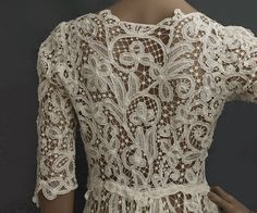 Battenberg lace wedding dress, c.1908