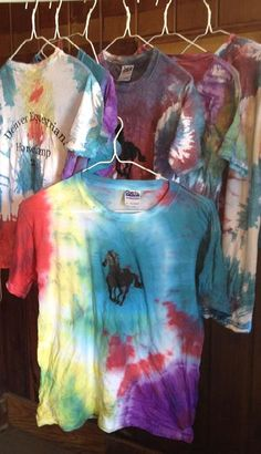 Denver Equestrians 2012 Summer Horse Camp Tee Shirts - join us and tye dye one of your own!