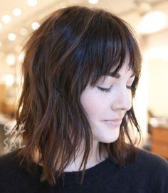Fringe bangs with shaggy layers by Sal Salcedo