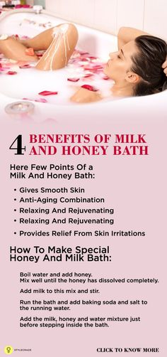 Do you want to enhance the beauty of your skin? Would you like to improve your skin health? Then a milk and honey bath is what you should use. Would you like to know more? Delay not and read on!