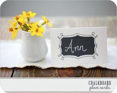 {Free Printables} Chalkboard Place Cards · DIY Weddings | CraftGossip.com