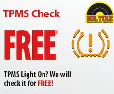 Mr. Tire Auto Service Centers Printable Coupons for Free Flat Tire Repair, Tire Rotation, and Inspection