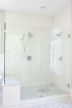 Spring Lane - traditional - bathroom - salt lake city - Tiek Built Homes. for the master bath?. Tile to celling and the frameless shower