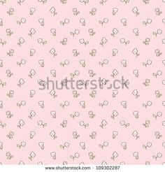 Simple vector flower pattern, background for kids. Tiny things collection