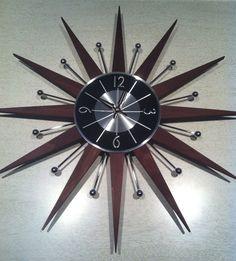 Not vintage, but vintage inspired mid-century starburst Sputnik clock.