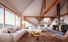 Finde rustikale Wohnzimmer Designs: Wohnen im Dachgeschoss. Entdecke die schönsten Bilder zur Inspiration für die Gestaltung deines Traumhauses.