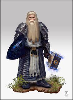 Dwarf hammerer; ArtStation - D&D Character: Dwarf Cleric, Rich Ramsey
