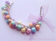 Nectarfromheaven - Braccialetto con macarons in fimo