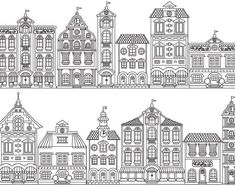 Doodle House Clipart House vector Art Home House City Adult Coloring, Coloring Pages, Coloring Books, House Colouring Pages, Haus Vektor, House Doodle, House Illustration, Clip Art, House Drawing