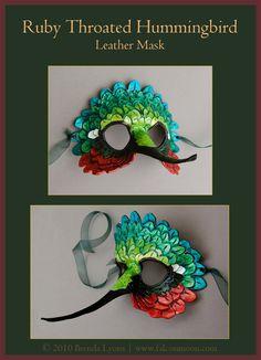Hummingbird Leather Mask by windfalcon.deviantart.com on @deviantART