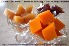 Immune Boosting Herbs in Finger Gelatin - combine anti-viral and antibacterial…
