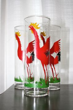 "Federal Glass ""Cock-Cro"" Glasses."