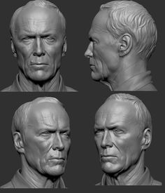 The ZBrush user gallery - showcasing the amazing artwork being shared by our ZBrushCentral community. Digital Sculpting, 3d Face Model, Anatomy Head, Anatomy Sculpture, Zbrush Character, Sculpture Head, Face Study, Modelos 3d, 3d Prints