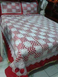 Dantel yatak örtüsü ve şeması (35)