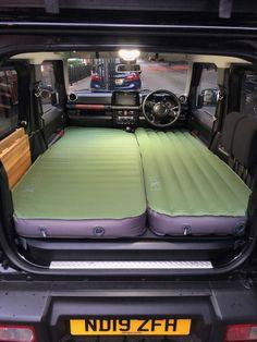 Sleeping in the Suzuki Jimny - Geordie Jimny Jeep Camping, Camping Life, Suzuki Jimny Interior, Audi A7 Interior, New Suzuki Jimny, Roof Storage, Car Supplies, Offroad, Top Tents