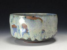 Tony Ferguson Chawan Matcha cone 10 茶碗 Blue Hare's Fur on Stoneware