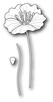 Poppystamps Sm. Iceland Poppy die #1176