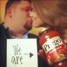 """My son and his wife---""""Our pregnancy announcement :o)"""". Love them!"""