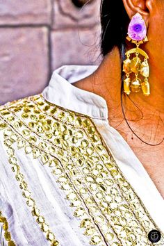 Statement #Earrings that I picked up from an Export House at #Colaba, #Mumbai