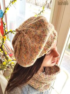 patron de boina de punto Knitting Projects, Knitting Patterns, Crochet Patterns, Skinny Pants Outfits, Knit Crochet, Crochet Hats, Knitted Beret, Crochet Circles, Scarf Hat