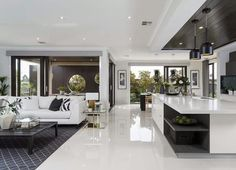 open floor plan with dining room    Metricon homes Australia