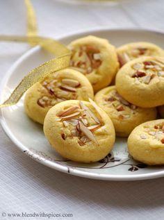Eggless Saffron Cookies Recipe ~ Diwali Special #eggless Called : Naan Khataai