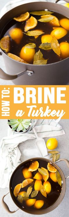 How to brine a turkey to get a moist, incredibly flavorful bird, no matter how you cook it. Brining a turkey is a must!