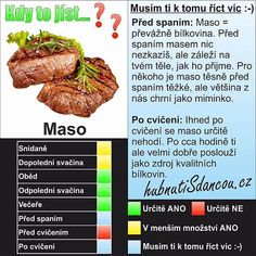 Kdy to jíst Healthy Lifestyle, Beef, Food, Fitness, Diet, Meat, Essen, Meals, Healthy Living