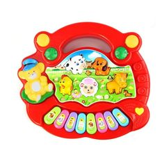 New Useful Baby Kid Animal Farm Piano Music Toy Developmental Red Yellow Musical toys for children