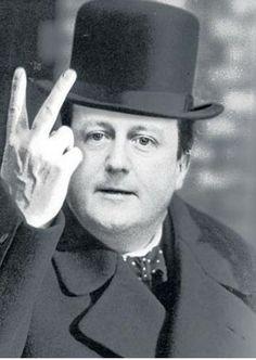 David Cameron's message to the nation  #DavidCameron, #evil, #sadistic, #destroyer, #satan, #antichrist, #TheButcherOfBritain
