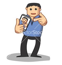 Young guy taking his self portrait vector 1674254 - by Busyokoy on VectorStock®