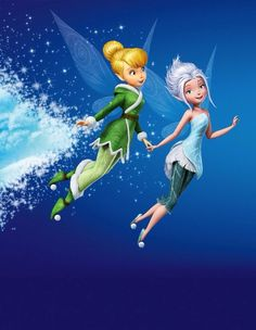Tinkerbell and Periwinkle - Disney. Tinkerbell Movies, Tinkerbell And Friends, Tinkerbell Disney, Tinkerbell Fairies, Walt Disney, Disney Love, Disney Magic, Disney Art, Pixie Hollow