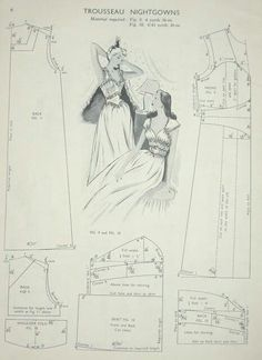 Vintage nightgown pattern