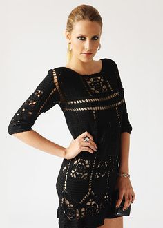 schwarzes Häkelkleid von Giovanna Diaz - crochet clothes