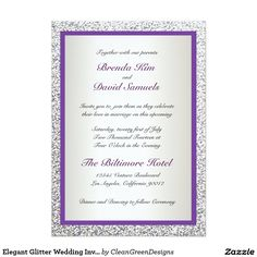 Elegant Glitter Wedding Invitation