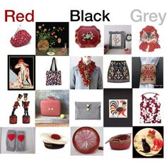 Red , grey , black by belinda-evans on Polyvore featuring art
