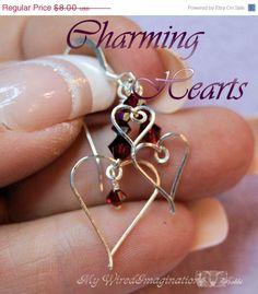 Super Shiny Sale Wire Jewelry Tutorial - Charming Hearts I -  Charms, Earrings, Pendants -