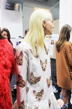 Fashion Collage, Fashion Art, Runway Fashion, High Fashion, Fashion Show, Fashion Design, Fashion Trends, Betsey Johnson, Miu Miu