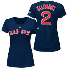 Boston Red Sox Jacoby Ellsbury Women's 2013 World Series Participant Name and Number T-Shirt - MLB.com Shop