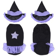 Yunt Funny Puppy Dog Cats Halloween Clothes Witch Dress Costumes Christmas Gift with Witch Hat > Insider's special review you can't miss. Read more  : Christmas Presents for Cats