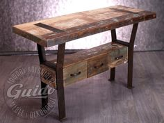 reclaimed wood console Rustic Vanity, Reclaimed Furniture, Entryway Tables, Diy And Crafts, Loft, Dressers, Antiques, Home Decor, Shopping