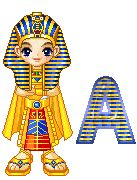 Alfabeto chico egipcio.
