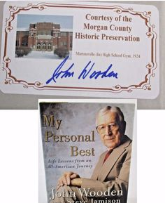 John Wooden AUTOGRAPHED SIGNED My Personal Best LEGENDARY UCLA COACH Book.  Available at BooksBySam.com