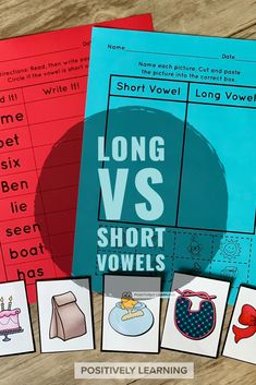 Here's a hands-onLong and Short Vowelssorting activity perfect for literacy centers and small groups! Picture and Text cards for easy differentiation. #vowels #centers #guidedreading