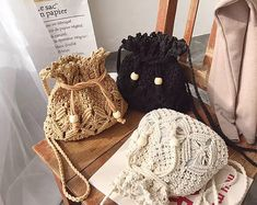 Excited to share this item from my shop: Casual macrame shoulder bag Macrame Purse, Macrame Knots, Cotton Rope, Cotton Bag, Pdf Sewing Patterns, Sewing Tutorials, Sewing Kit, Festival Party, Boho Stil